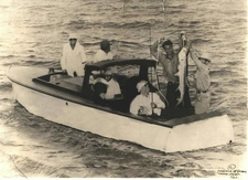 President Roosevelt Catching A Tarpon On A Farley Boat Off The