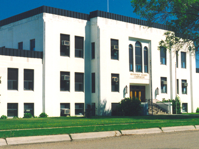 Roosevelt County Courthouse In Wolf Point