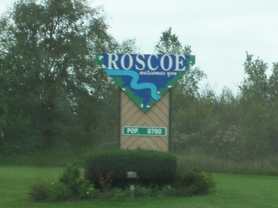 Roscoe Illinois Sign