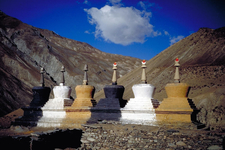 Row Of Chorten (or Stupa) At The Village Of Purne