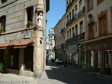 Street In The Old Center Of Saint-Etienne