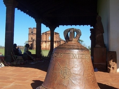 Old Church Bell And Native Art In The Missions Museum