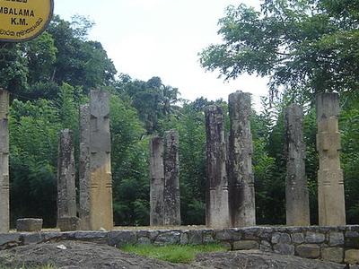 Ruins Of Embekka Ambalama-near Devalaya.