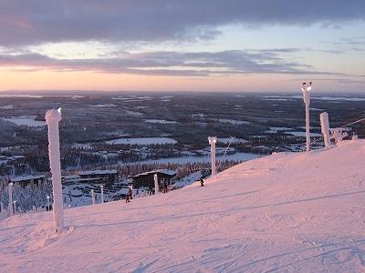 Ruka Ski Slopes In Winter - Finland