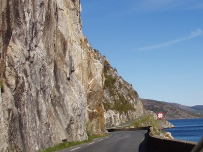 The Road Along Vefsnfjord