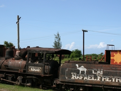 Train On The Land Of Sugar Cane Factory