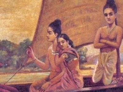 Raja  Ravi  Varma  2 C  Sree  Rama  Crossing  Sarayu River