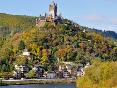Cochem Castle Overlooking The Moselle River