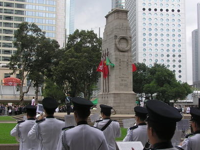 Hong Kong Police Band At Cenotaph