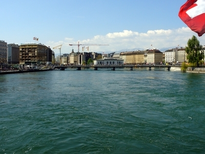 The Rhone Through Geneva Switzerland