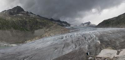 Rhone Glacier Above Oberwald