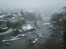 River Dee In Snow