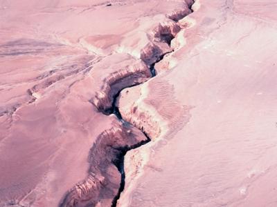River Eroding Volcanic Ash Flow