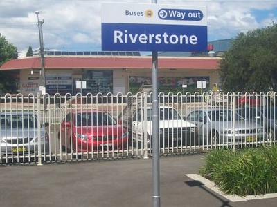Riversone Railway Station Sign