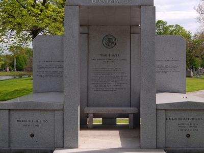 Roland Burris Tomb