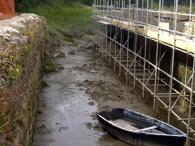 Rolle Canal Lock At Low Tide