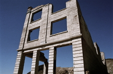 Ruins Of The Cook Bank Building In Rhyolite