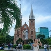 Saigon Notre-Dame Cathedral Basilica Front View