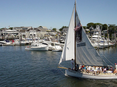 Sailboat In Hyannis Harbor