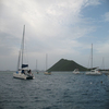 Sailboats In British Virgin Islands