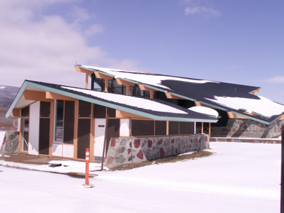 Saint Mary Visitor Center, Entrance And Checking Stations At Glacier - USA