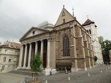 Saint Pierre Cathedral In Geneva