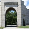 The Main Entrance To Salem Fields Cemetery