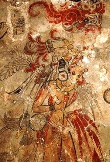 San Bartolo Ruins Mural - Petén Department - Guatemala