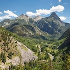 San Juan Mountains With Animas River CO