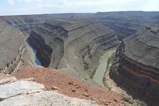 San Juan River Canyon At Goosenecks State Park