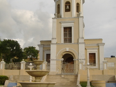 San Lorenzo Plaza And Catholic Church.