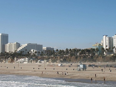 Santa Monica State Beach Seen From The Pier
