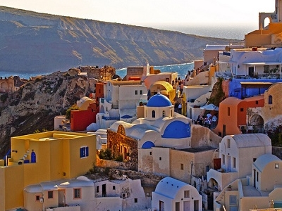 Santorini Oia Village In Greece