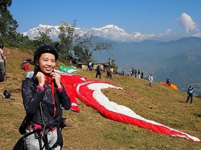 Sarankot Paragliding - Nepal