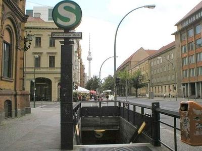 Entrance To Berlin Oranienburger Straße Station