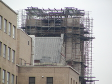 Scaffolding Covering The South Tower