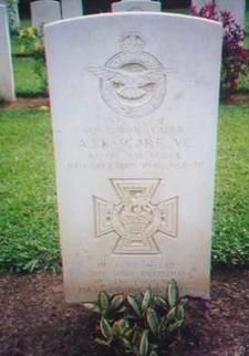Gravestone Of Scarfe VC At Taiping