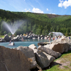 Scenic Outdoor Rock Lake At Chena Hot Springs