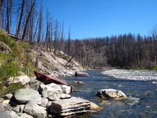 Scenic Red Eagle Trail - Glacier - Montana - USA