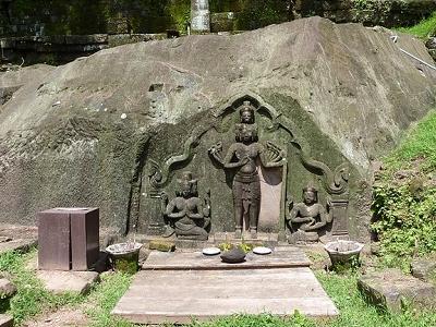 Sculpture At Wat Phu Champasak