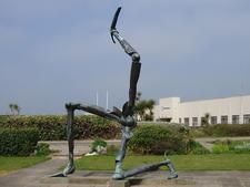 Manx Triskelion Sculpture - Isle Of Man