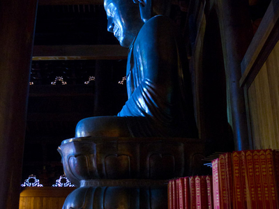 Seated Buddha In The Precious Hall