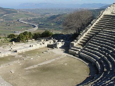 Segesta Theatre - Trapani - Sicily - Italy