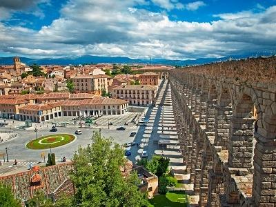 Segovia Aqueduct In Spain