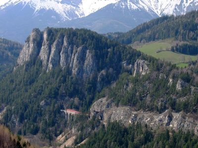 Semmering Railway With Surrounding Mountain Scenery