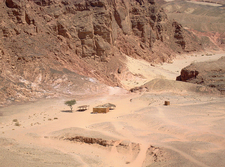 Shack Inside Colored Canyon In South Sinai