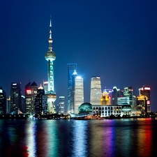 Shanghai Night Sky