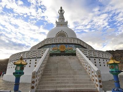 Shanti Stupa In Leh - Ladakh J&K - Day View