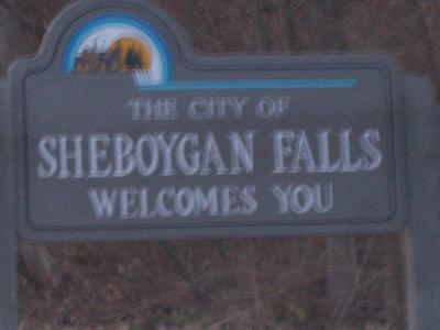 Sheboygan Falls Wisconsin Welcome Sign