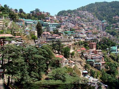 Shimla Southern Side Of Ridge
